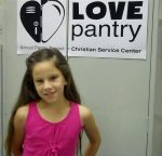 Mady loves the Love Pantry, but didn't know her family needed food, too. Click here for a short YouTube video of Mady's Love Pantry commercial.